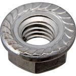 Flanged nut Serrate (stainless / coat) (pack product)