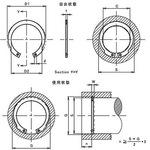 OV-shaped ring for the hole (Iwata standard) (iron / fabric) (small box)