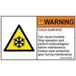 PL warning labels (ISO / SEMI compliant) thermal danger: low temperature Note English