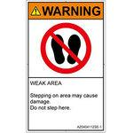 PL warning labels (ANSI compliant) prohibitions: Riding Do English vertical