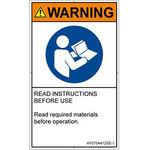 PL warning labels (ANSI compliant) instructions: manual reference English vertical
