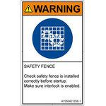 PL warning labels (ANSI compliant) instructions: safety guard wear English vertical