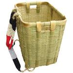 Bamboo backpack basket