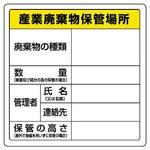 Waste Storage Location Signs