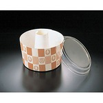 Chiffon cup emblem latticed with lid