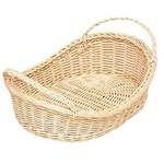 With wicker boat-basket ear