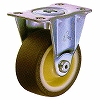 420SR Rigid Caster, Nylon Wheel Urethane Rolling, With B, Wheel,