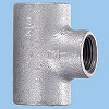 Reducing Tees Malleable Cast Pipe Fitting White