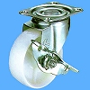 413S Swivel Caster, Nylon Solid Wheel, With A Stopper